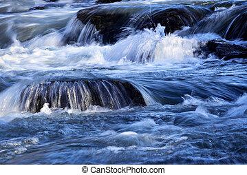 βαθμίδα , από , καταρράκτης , επάνω , ο , ποτάμι