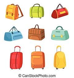 βαλίτσα , αρπάζω , άλλος , απεικόνιση , θέτω , αποσκευές