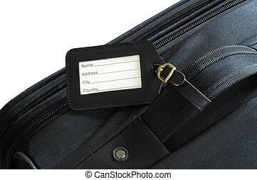 βαλίτσα , επιγραφή
