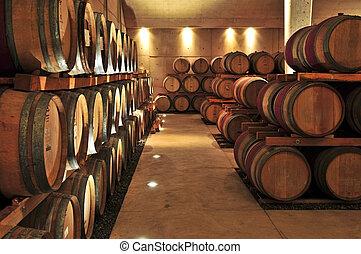 βαρέλια , κρασί