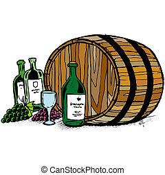 βαρέλι , κρασί