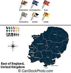 βασίλειο , ανατολή , ενωμένος , αγγλία