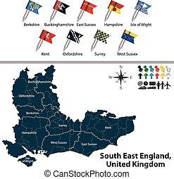 βασίλειο , ανατολή , ενωμένος , αγγλία , νότιο