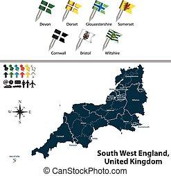 βασίλειο , δύση , ενωμένος , αγγλία , νότιο