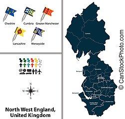 βασίλειο , δύση , ενωμένος , βόρεια , αγγλία