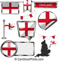 βασίλειο , ενωμένος , απεικόνιση , αγγλία , σημαία , λείος