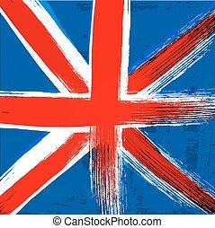 βασίλειο , ενωμένος , grunge , μπογιά , σημαία , φόντο