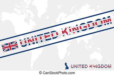 βασίλειο , χάρτηs , ενωμένος , εδάφιο , εικόνα , σημαία