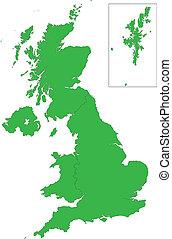βασίλειο , χάρτηs , ενωμένος , πράσινο