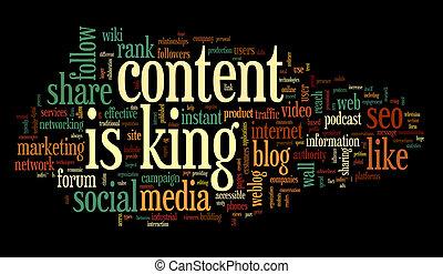 βασιλιάs , λέξη , ευχαριστημένος , ετικέτα , conept, σύνεφο