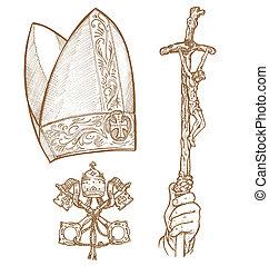 βατικανό , s , σύμβολο