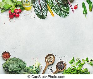 βαφή , διάστημα , λαχανικά , λαχανικά , ακατέργαστος , φρέσκος , αντίγραφο