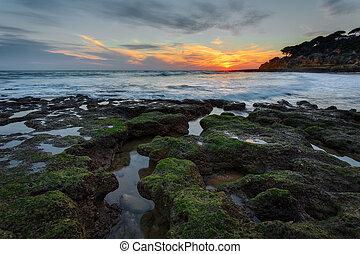 βγάζω τα κουκούτσια , όμορφος , διακεκριμένη θέση. , portugal., μαγικός , σχήμα , ηλιοβασίλεμα , θάλασσα