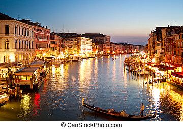 βενετία , λυκόφως