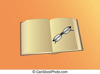 βιβλίο , ανοίγω , γυαλιά