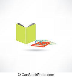 βιβλίο , γυαλιά