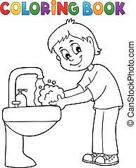 βιβλίο , 1 , μπογιά , πλύση , αγόρι , θέμα , ανάμιξη