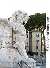 βικτωριανός , τετράγωνο , λιοντάρι , venezia