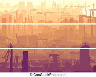 βιομηχανικός , σημαία , τμήμα , city.