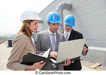 βιομηχανικός , συνάντηση , θέση , αρμοδιότητα ακόλουθοι