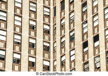 βλέπω , από , ηλιακό φως , ανάμεσα , ουρανοξύστης