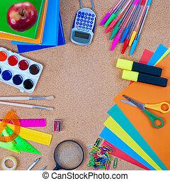 βλέπω , εργαλεία , πίνακας , γραφείο , φελλός
