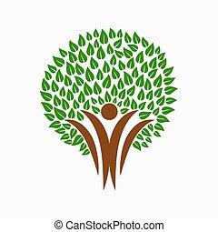 βοήθεια , άνθρωποι , σύμβολο , δέντρο , κοινότητα , πράσινο , ζεύγος ζώων
