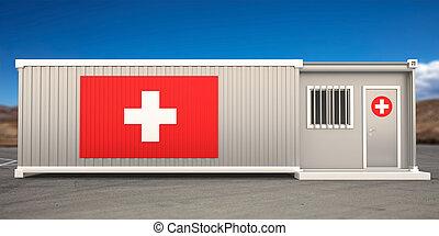 βοήθεια , εικόνα , φόντο. , κουτί , κλινική , ουρανόs , δοχείο , 3d , μπλε , πρώτα