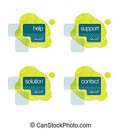 βοήθεια , υποστηρίζω , διάλυμα , επαφή