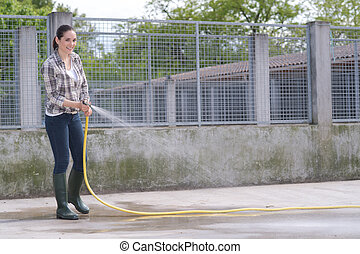 βοηθός , ώρα , σπιτάκι σκύλου , καθάρισμα