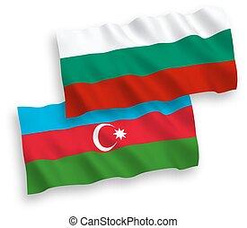 βουλγαρία , αζερμπαϊτζάν , άσπρο , σημαίες , φόντο