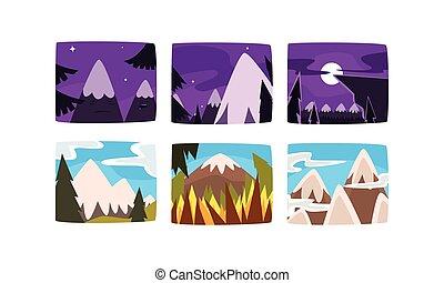 βουνά , τοπίο , έτος , όμορφος , μικροβιοφορέας , εικόνα , συλλογή , ημέρα , διαφορετικός , χιονάτος , φορές