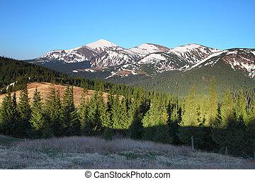 βουνήσιος γραφική εξοχική έκταση