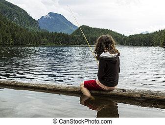 βουνήσιος ερυθρολακκίνη , ψάρεμα