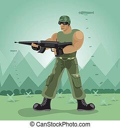 βουνό , μικροβιοφορέας , στρατιώτης , βόμβα