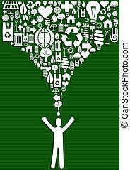βουτιά , γενική ιδέα , πράσινο