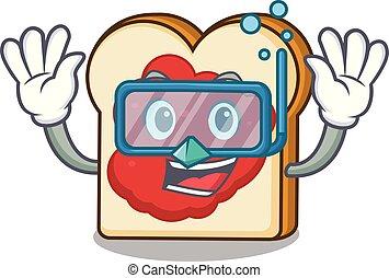 βουτιά , πελτέs , χαρακτήρας , γελοιογραφία , bread