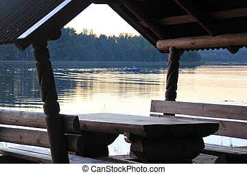 βράδυ , λίμνη
