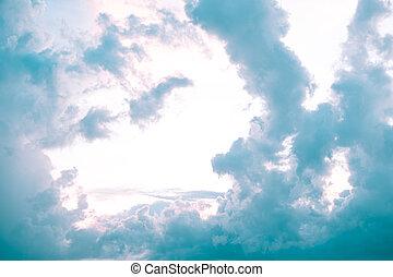 βράδυ , clouds., όμορφος , ουρανόs