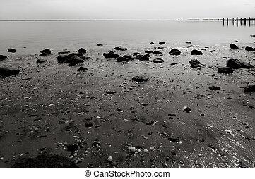 βράδυ , shoreline , ατάραχα
