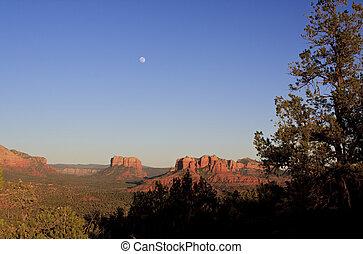 βράχος , κόκκινο , φεγγάρι