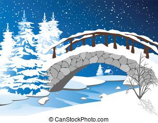 βράχοs , κάτω από , ο , γέφυρα