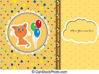 βρέφος άφθονη ροή , κάρτα , γάτα