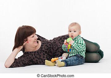 βρέφος αγόρι , δικός του , μητέρα