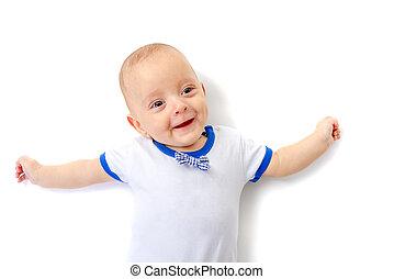 βρέφος αγόρι , χαμογελαστά