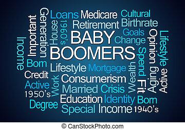 βρέφος boomers , λέξη , σύνεφο