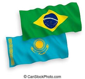 βραζιλία , καζακστάν , άσπρο , σημαίες , φόντο