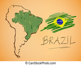 βραζιλία , χάρτηs , εθνικός , μικροβιοφορέας , σημαία
