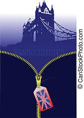 βρετανία , image., μικροβιοφορέας , ανοίγω , φερμουάρ