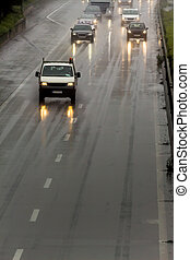 βροχή , εθνική οδόs